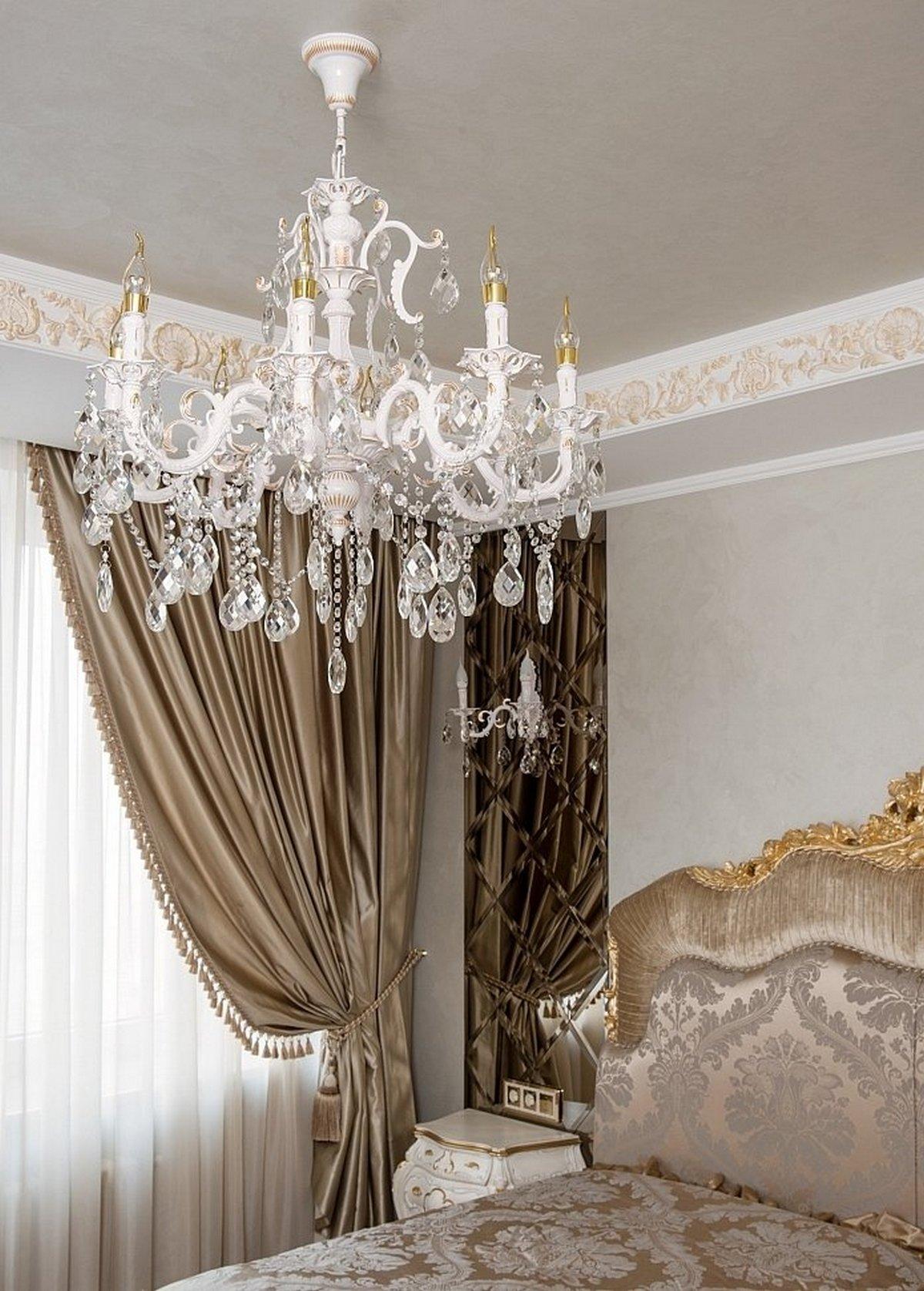 мебель для спальни в классическом стиле люстры