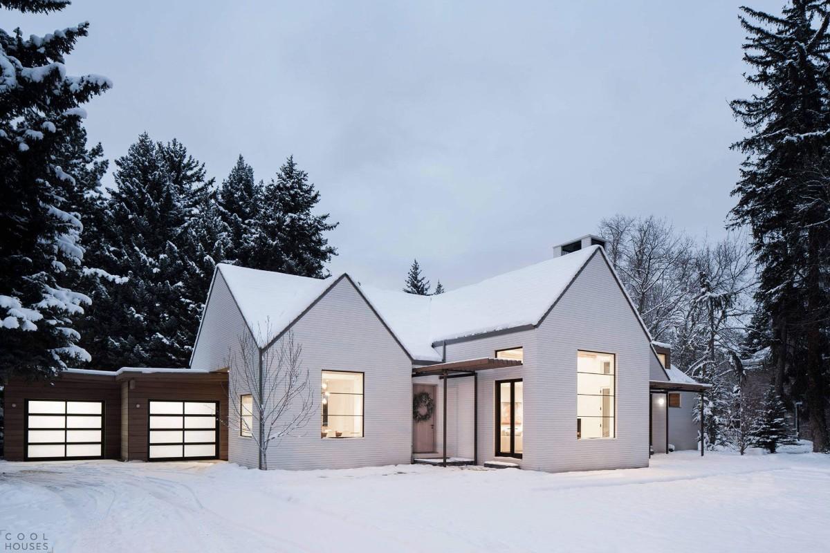 небольшой дом в скандинавском стиле