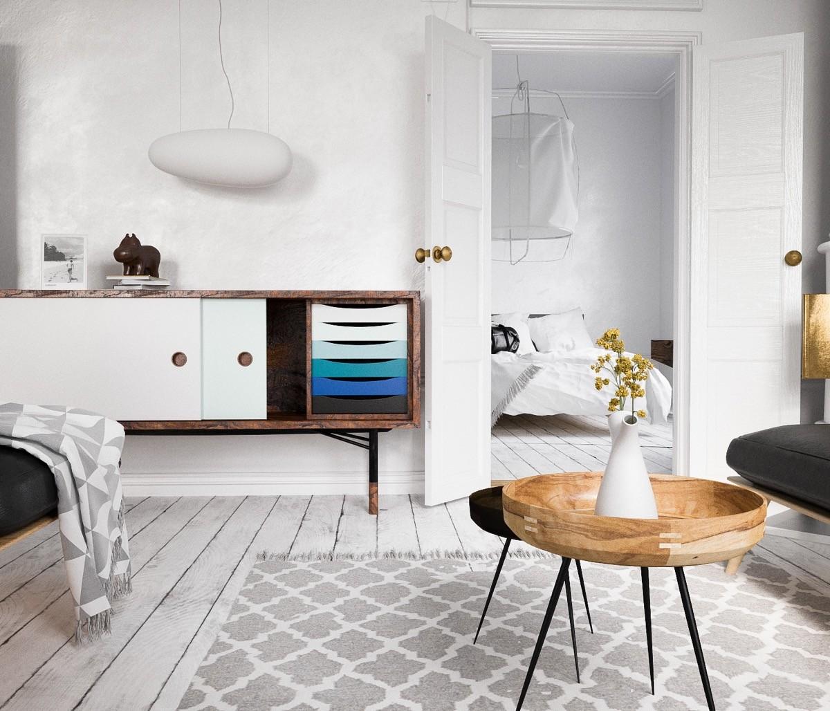 скандинавский стиль дома внутри