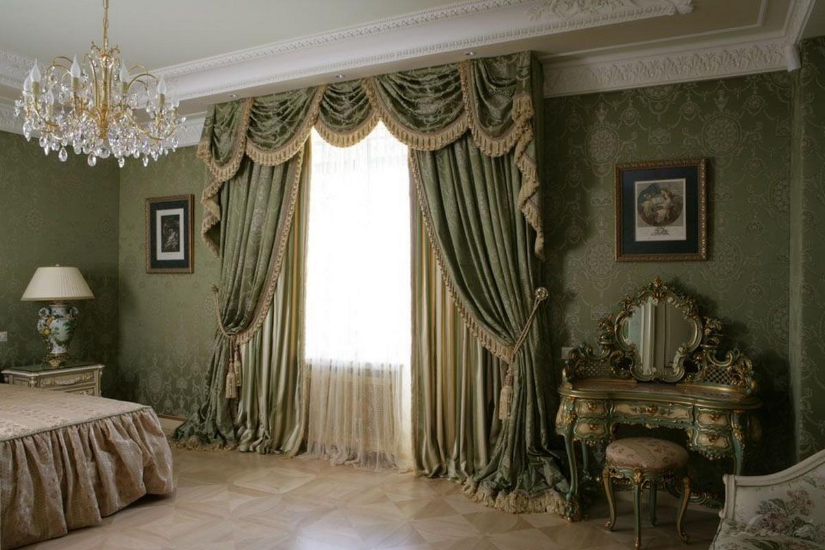 спальня 12 м в классическом стиле