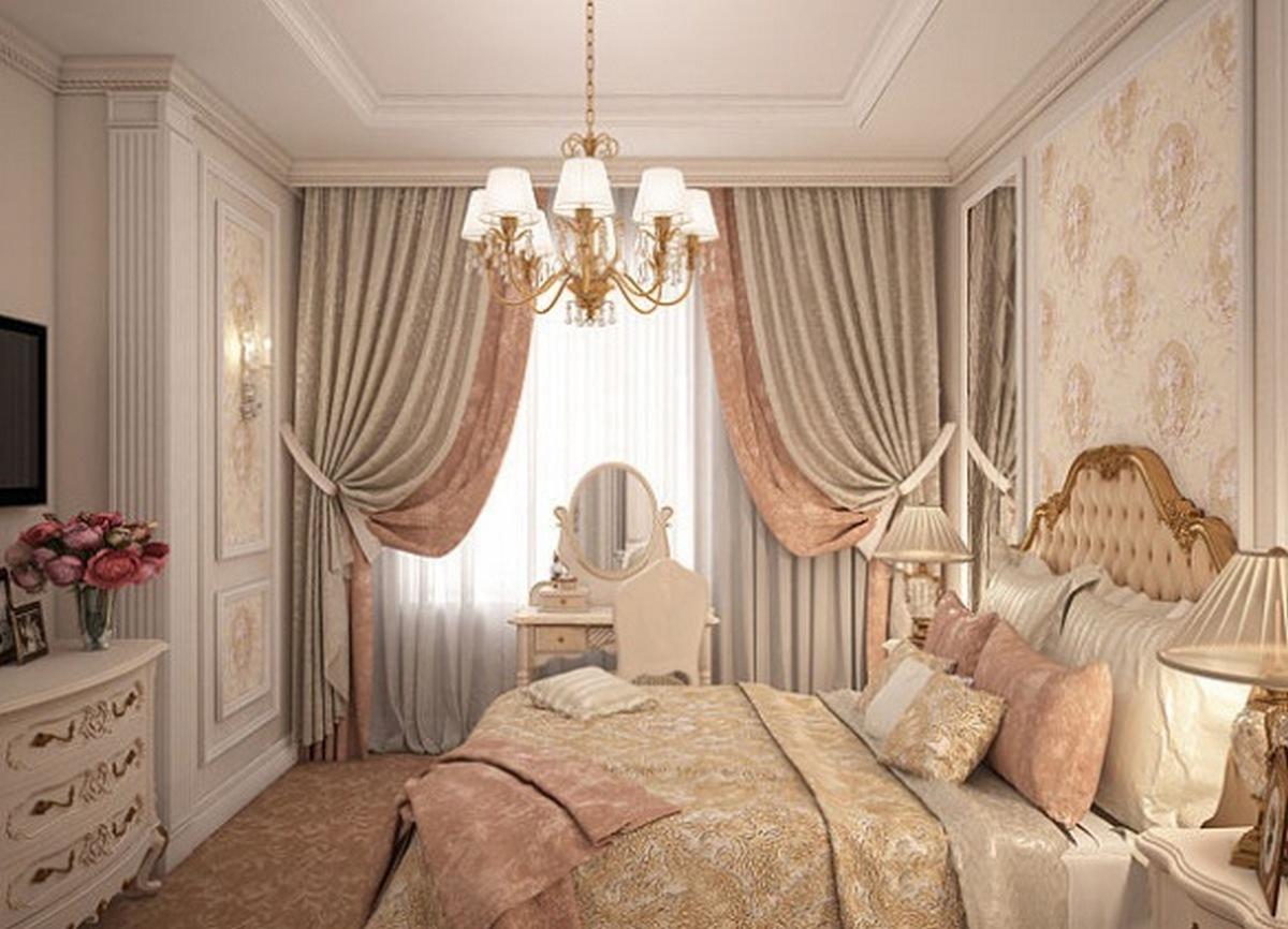 спальня в классическом стиле светлая фото
