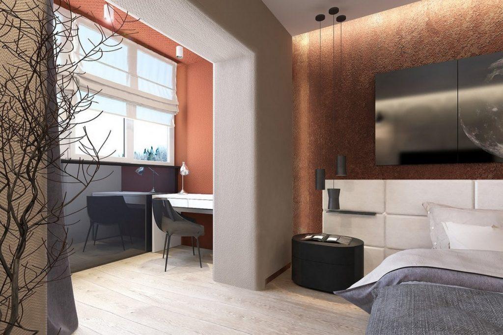 дизайн комнаты с балконом на фото