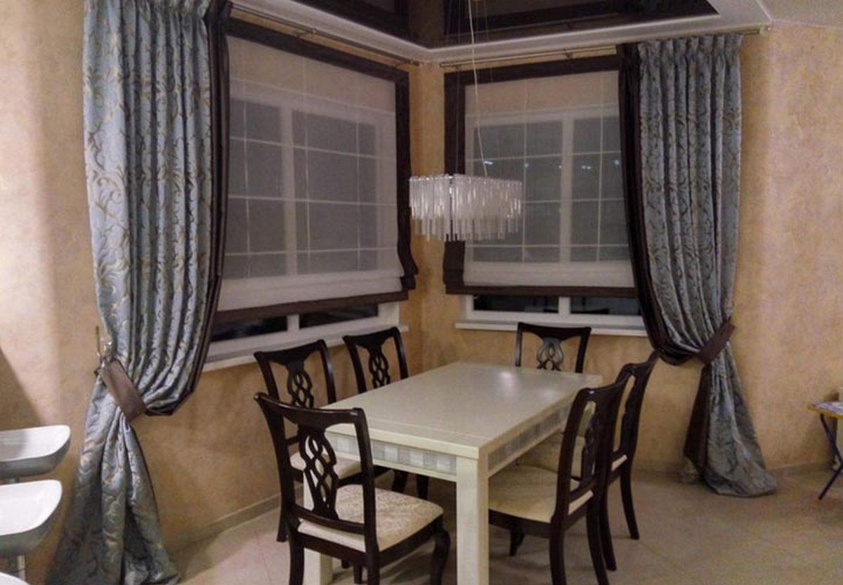 шторы на кухню на фото