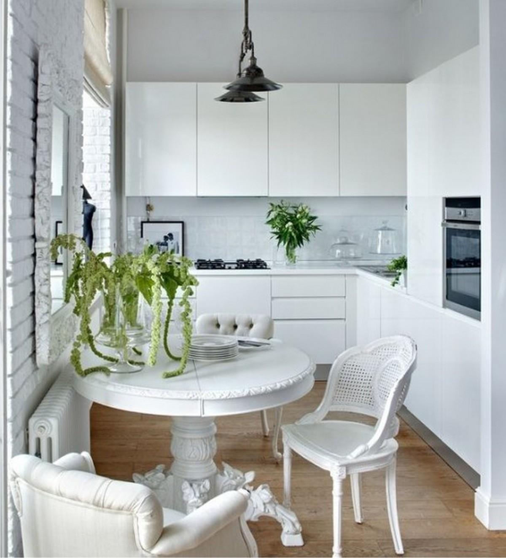 белая маленькая кухня в хрущёвке 6 кв м