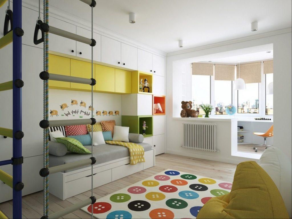 детская комната с балконом дизайн