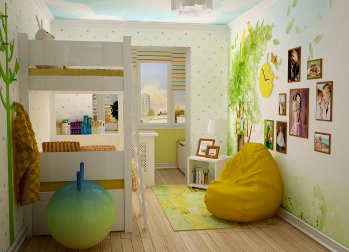 детская комната с балконом дизайн фото проект