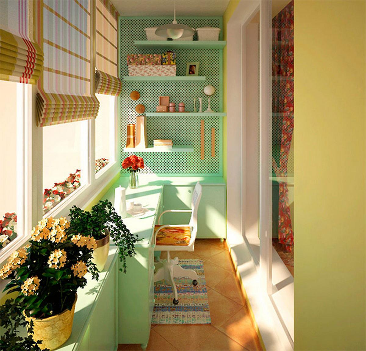 дизайн комнаты с балконом детская