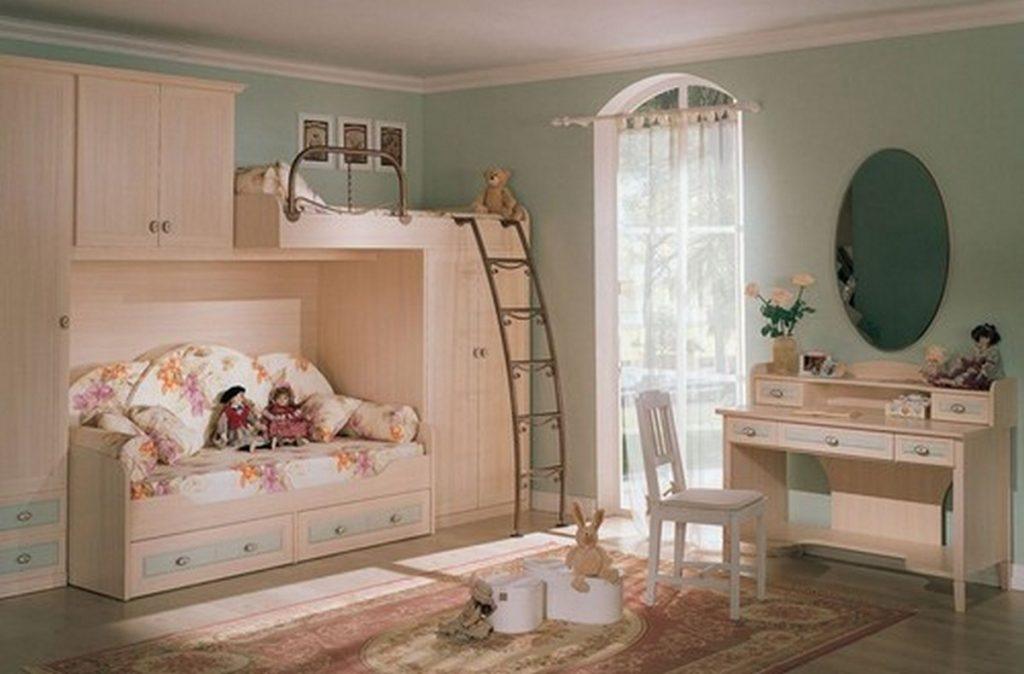 дизайн детской комнаты с балконом на фото