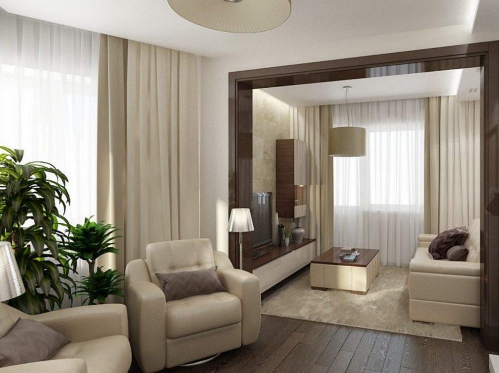 дизайн гостиной комнаты с балконом на фото