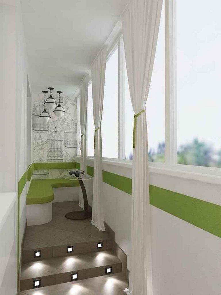 дизайн комнаты 18 м с балконом