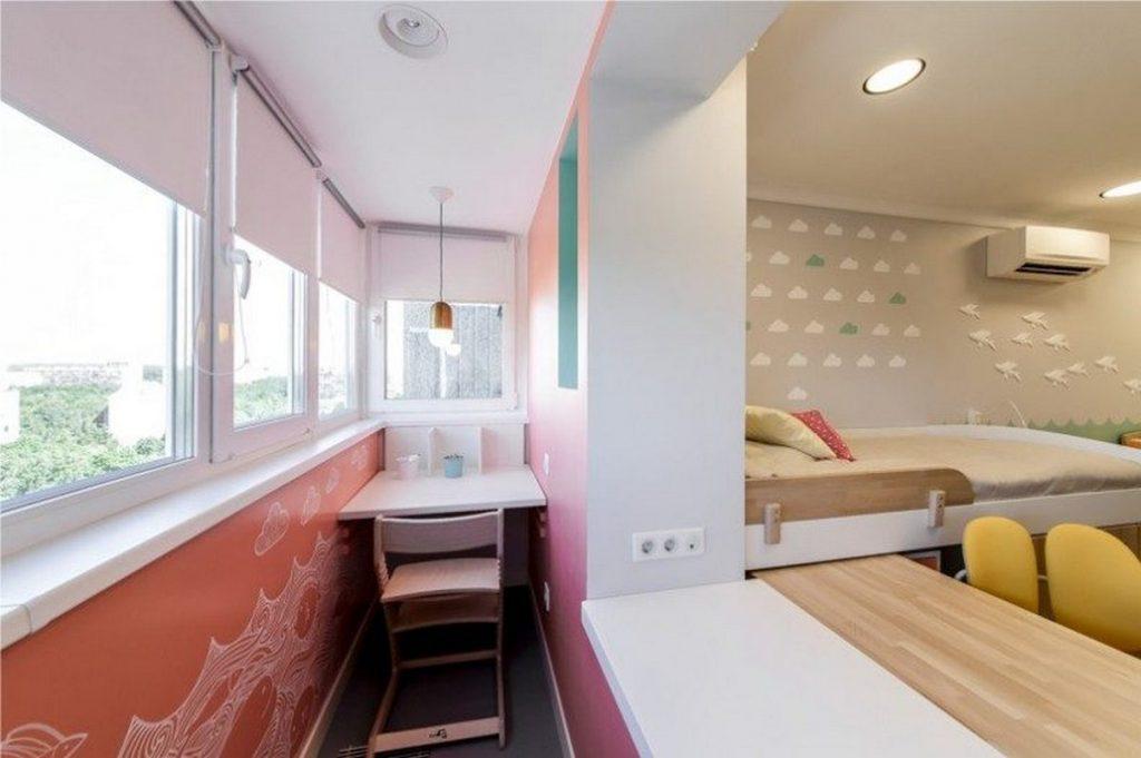 дизайн комнаты для девочки с балконом