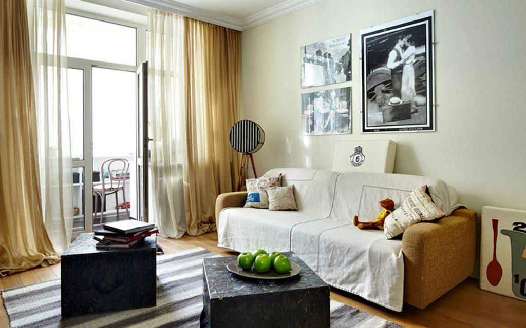 дизайн комнаты гостиной балкона на фото