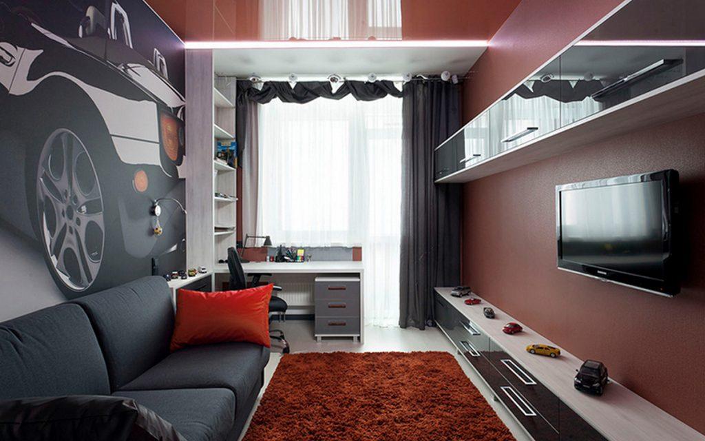 дизайн комнаты подростка с балконом фото