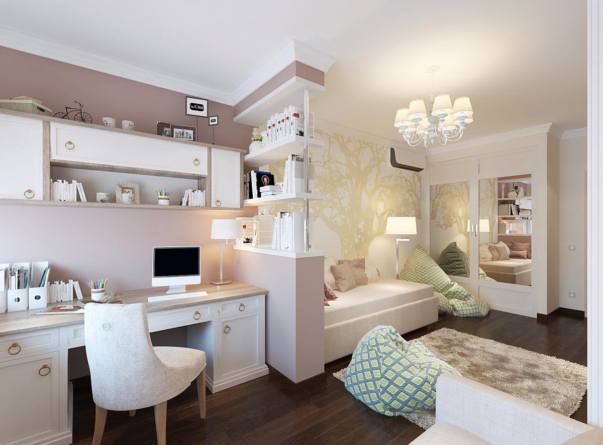 дизайн комнаты подростка с балконом на фото