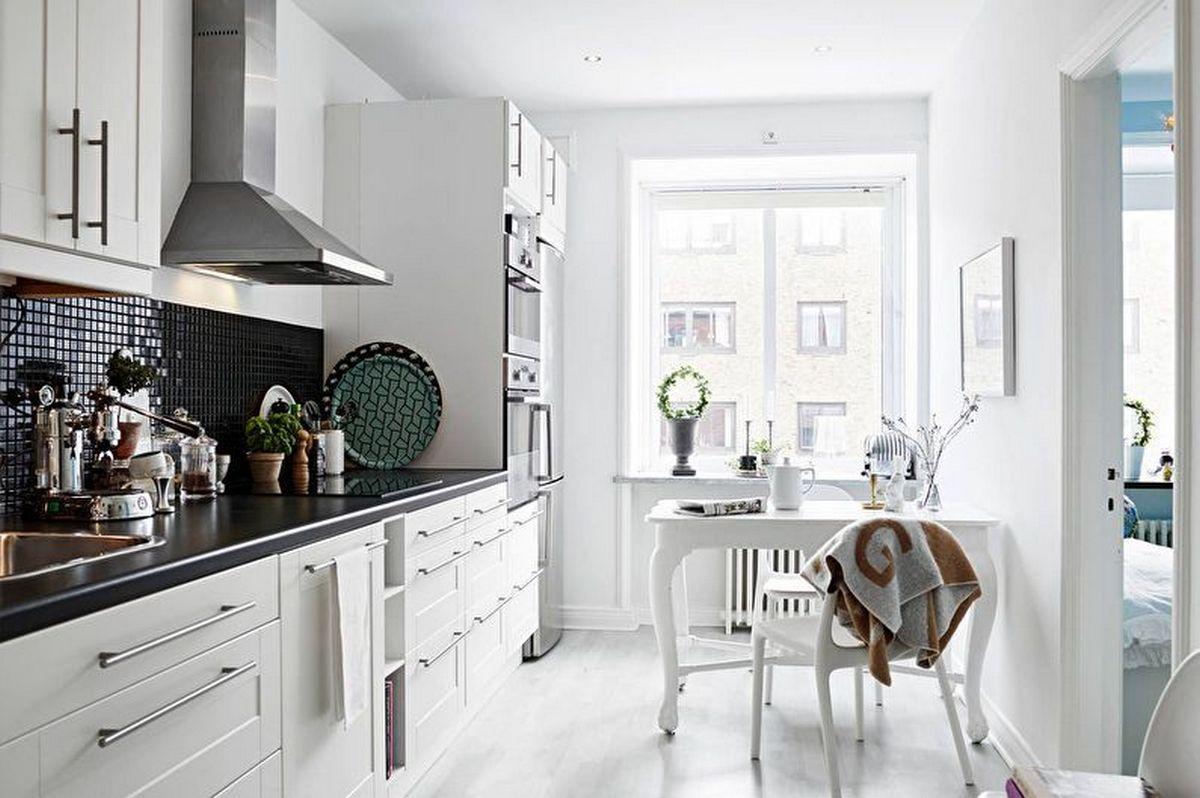 дизайн кухни 6 кв м фото новинки белая