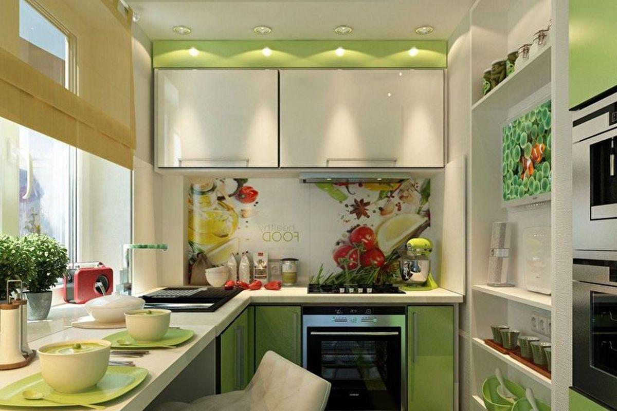 дизайн кухни 6 кв м фото новинки зеленая