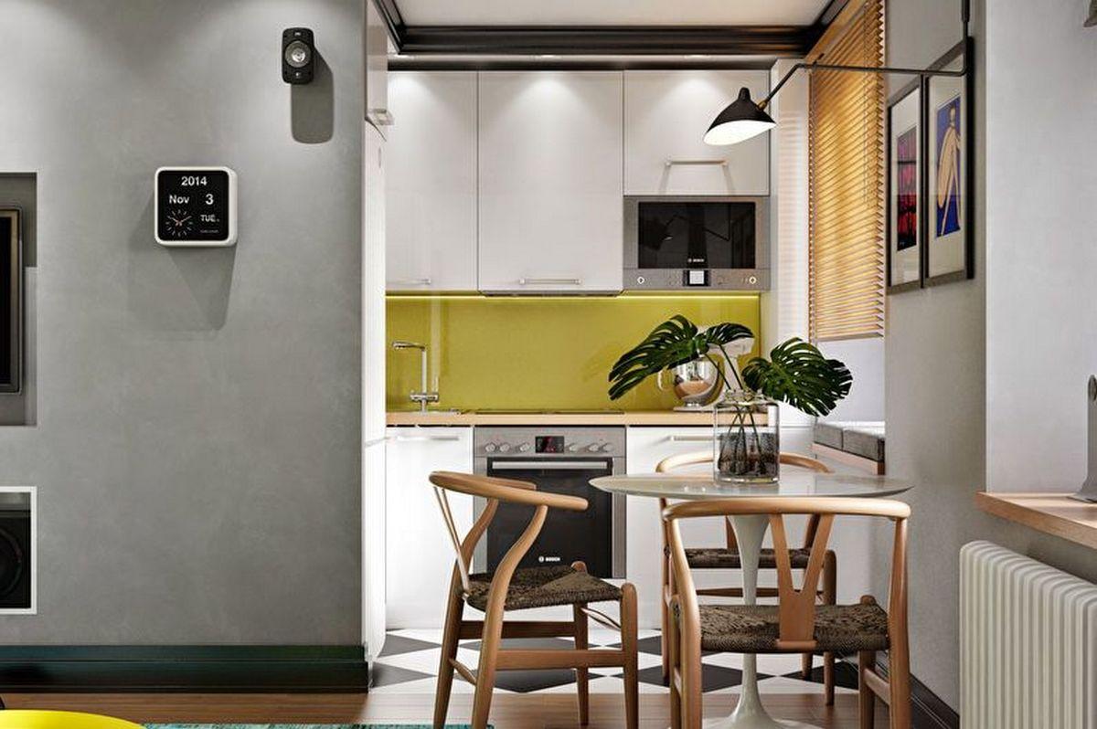 дизайн кухни 6 кв м новинки на фото
