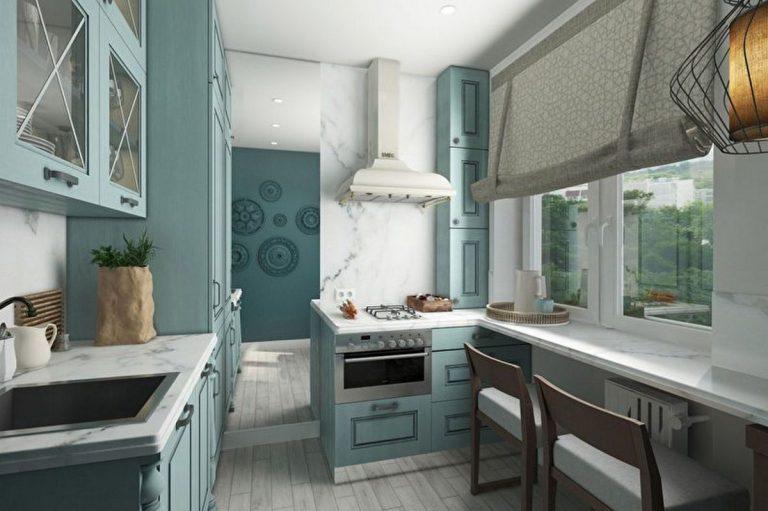 дизайн кухни в хрущёвке 6 кв м