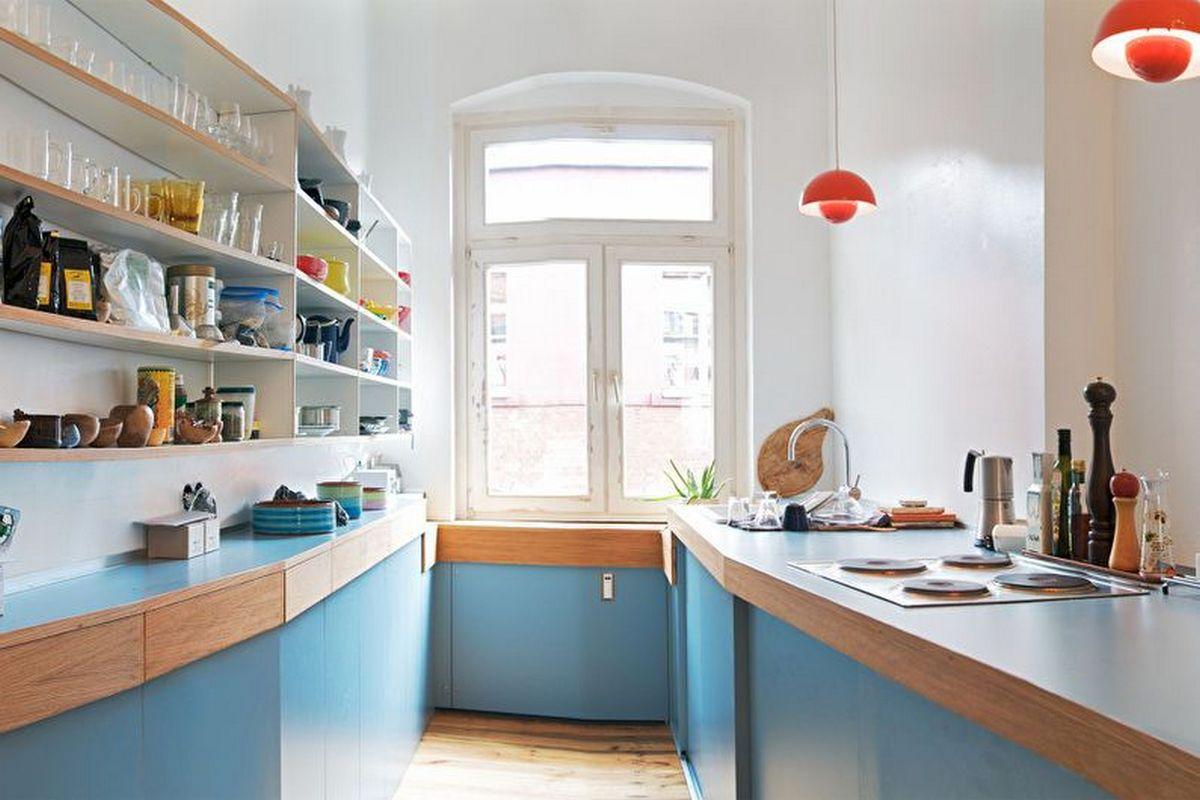 дизайн маленькой кухни 6 кв м скандинавский стиль
