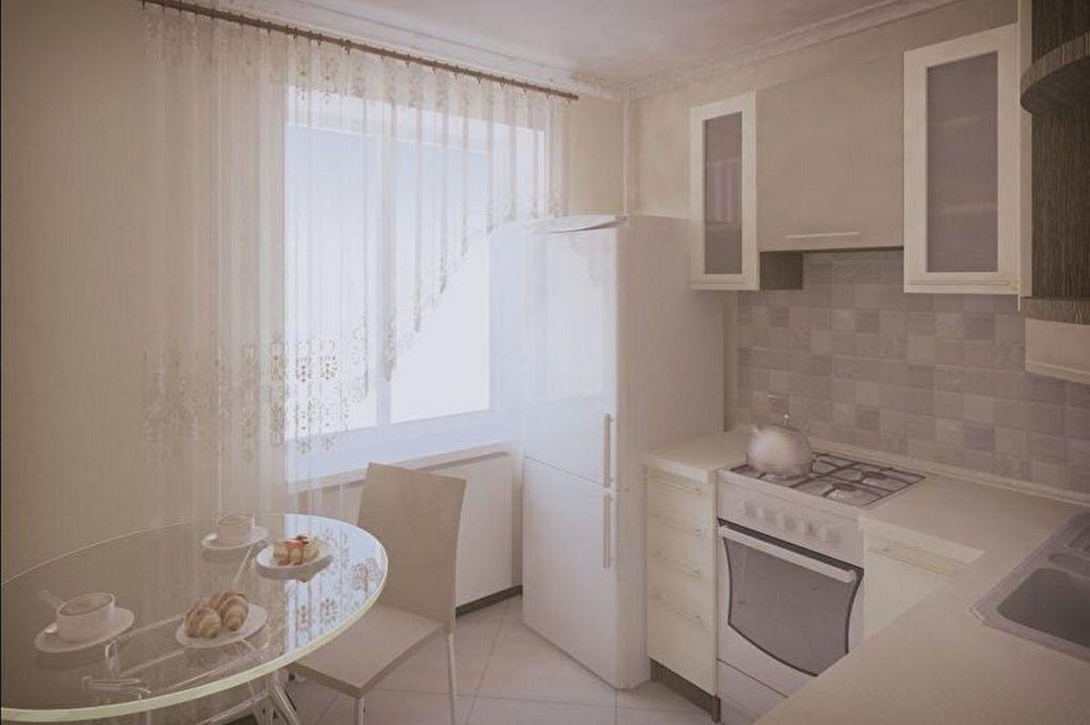 дизайн маленькой кухни 6 кв м светлая