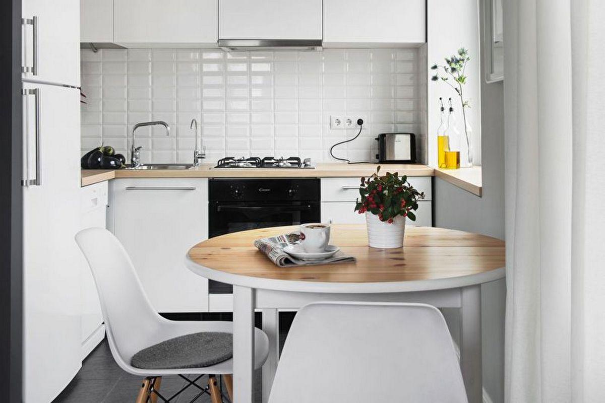 дизайн малогабаритной кухни 6 кв м фото белая