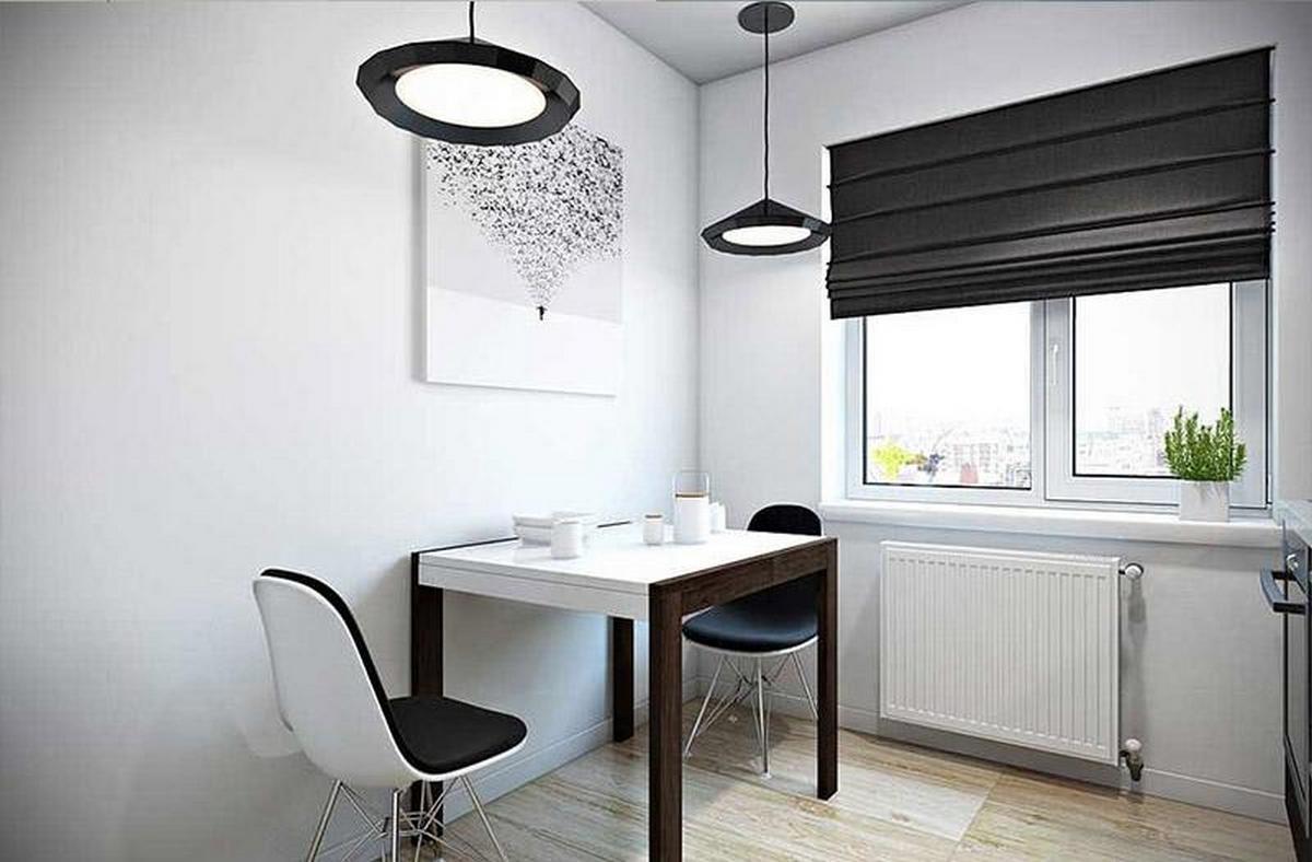 дизайн штор для кухни чёрные