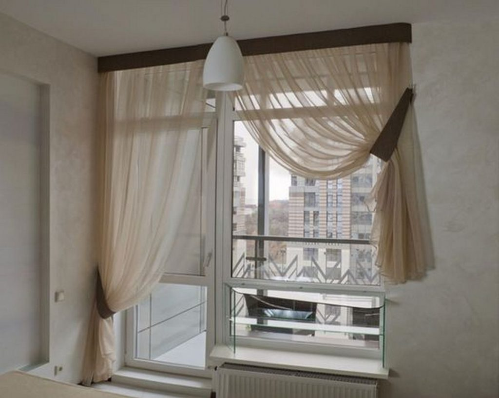 дизайн шторы для кухни фото