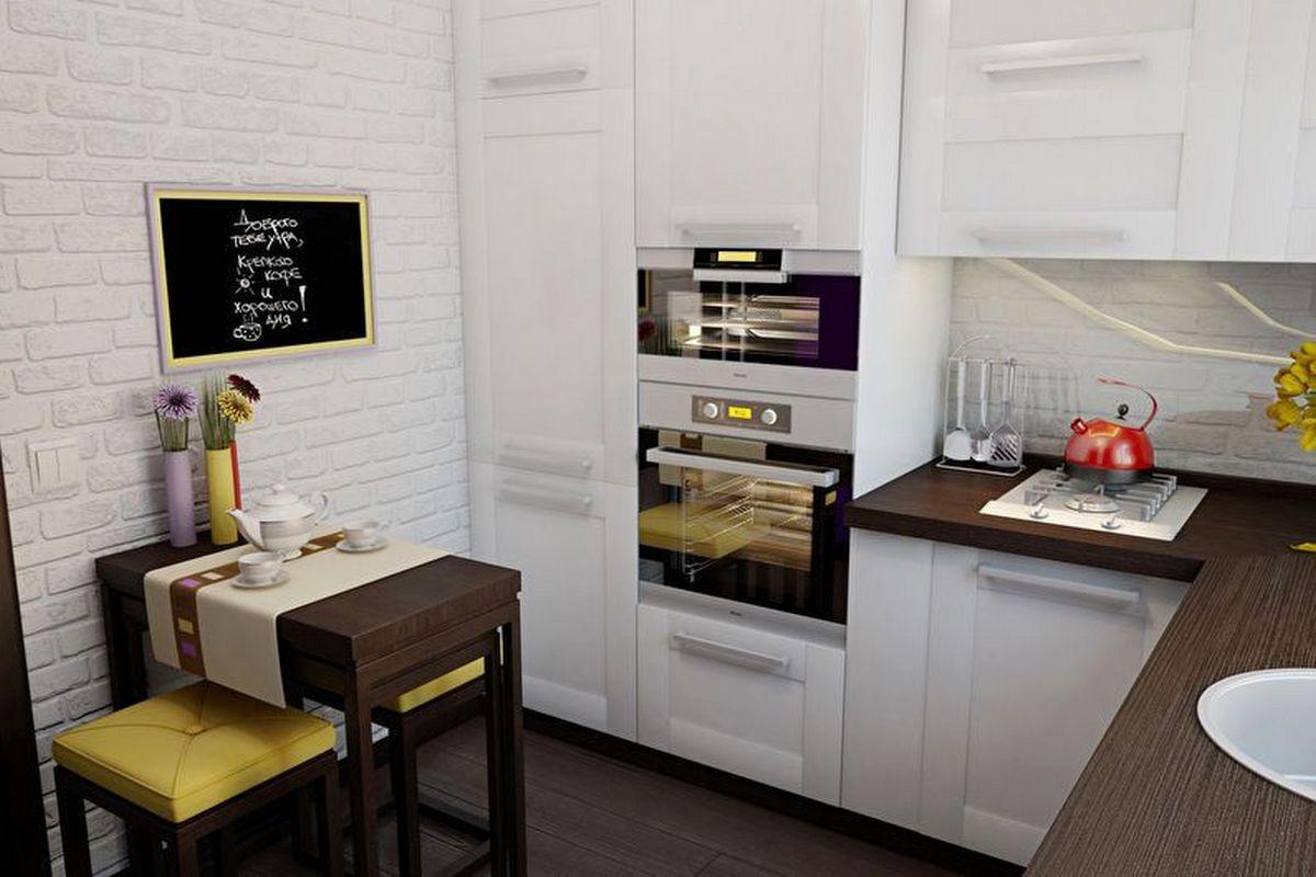 дизайн современной кухни 6 кв м фото
