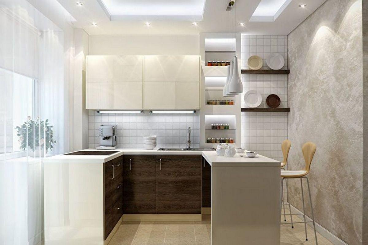 дизайн современной кухни 6 кв м