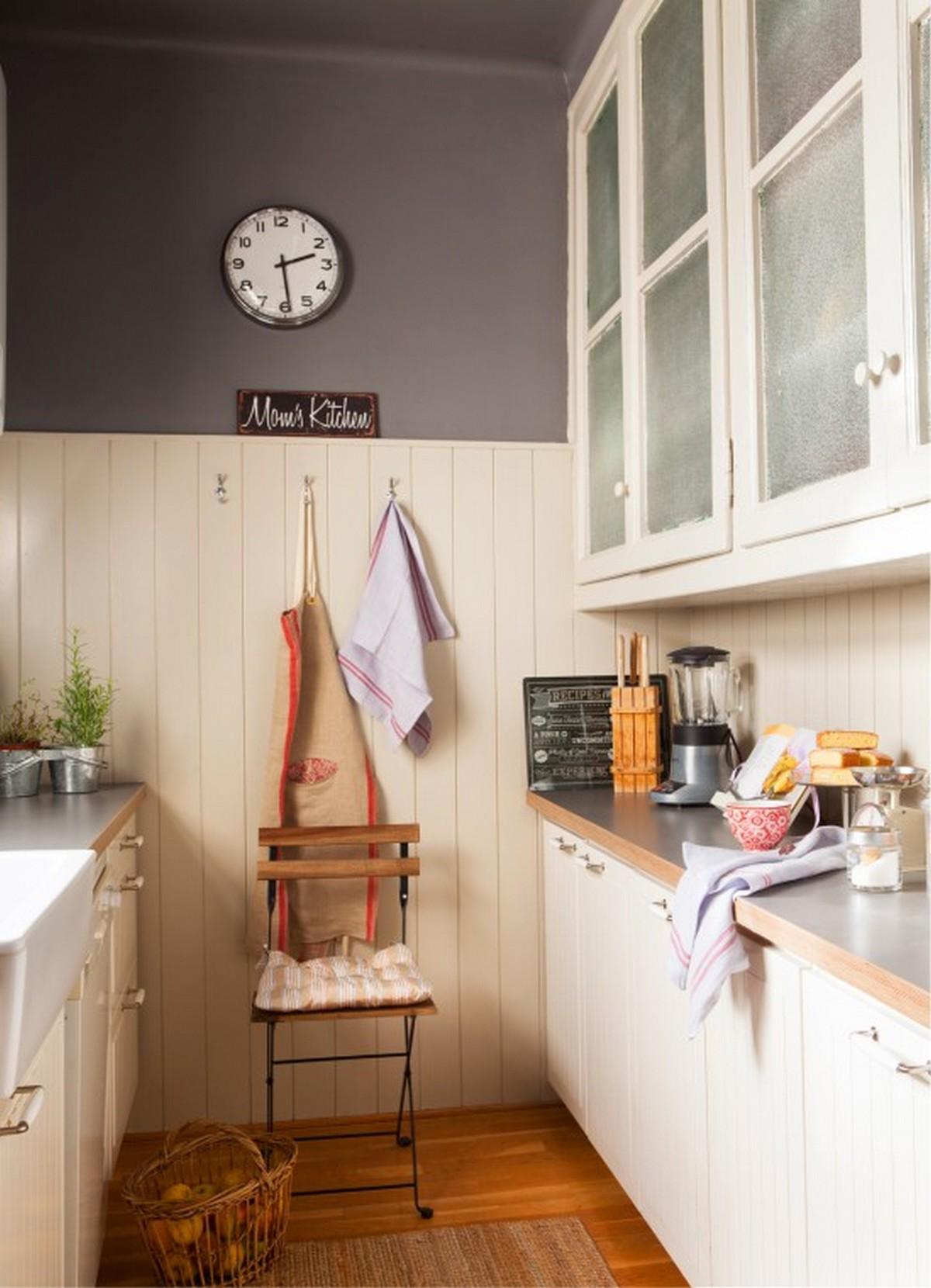 двухрядная кухня 6 кв м