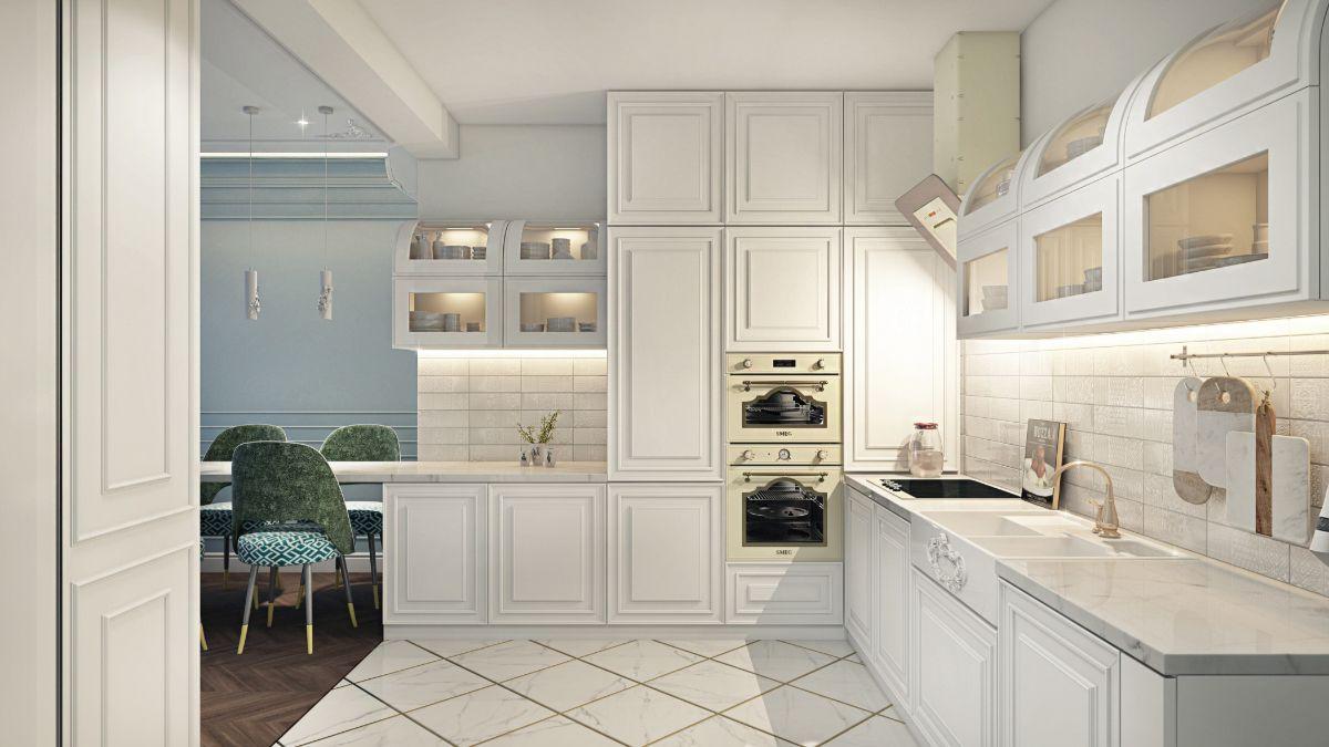 кухня в неоклассическом стиле фотография