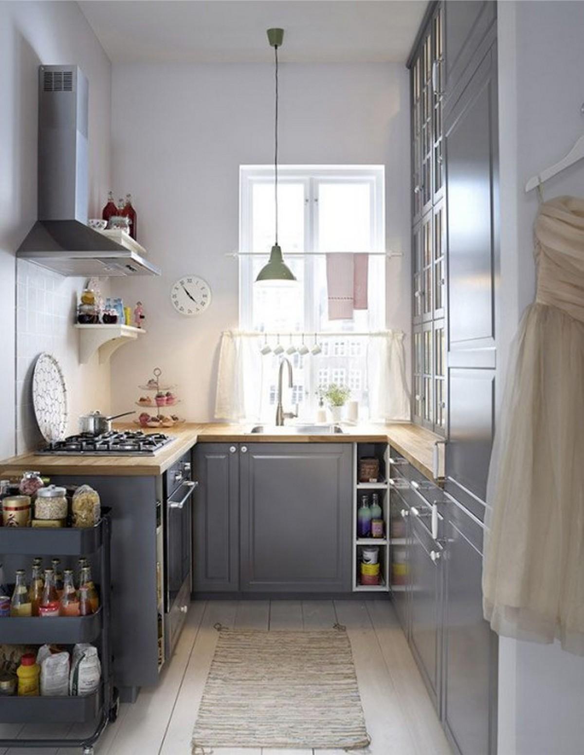 п-образная кухня 6 кв м