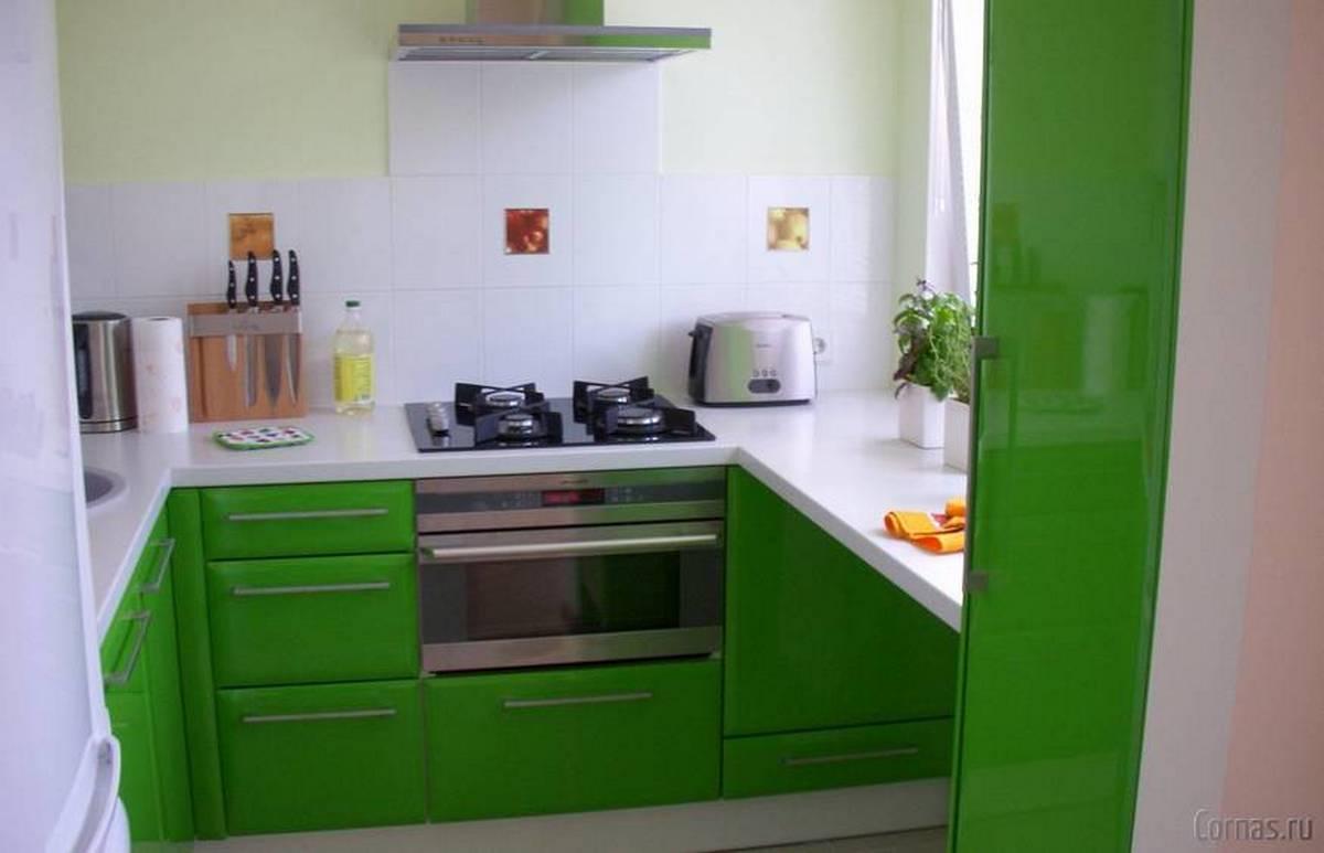 ремонт кухни дизайн 6 кв м зелёный фасад