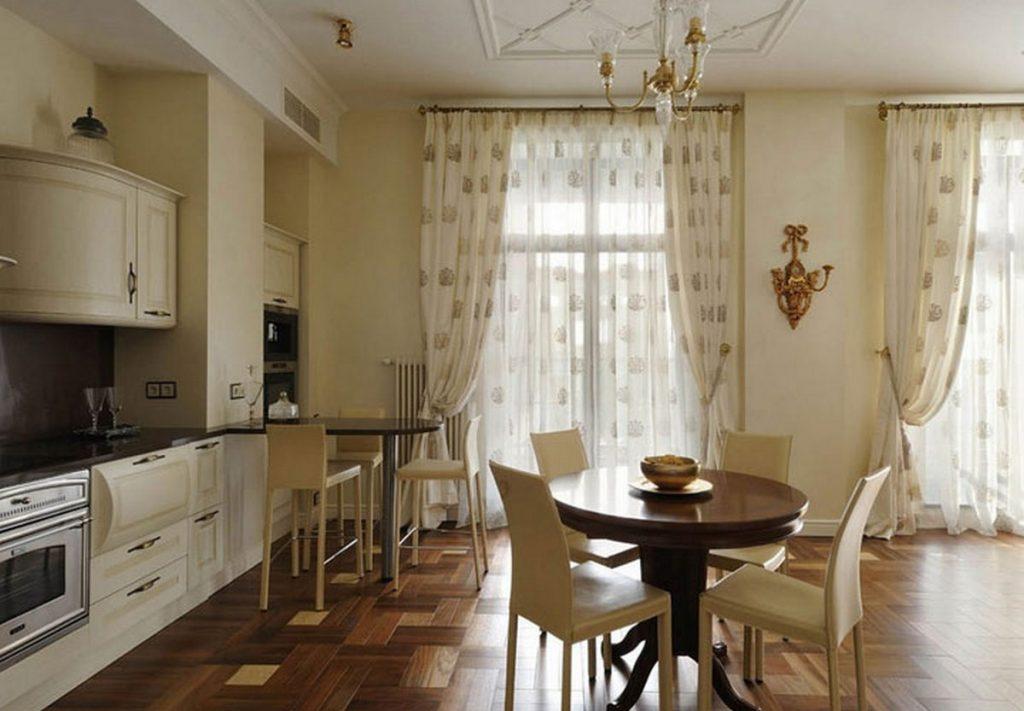 шторы на кухню современные фото