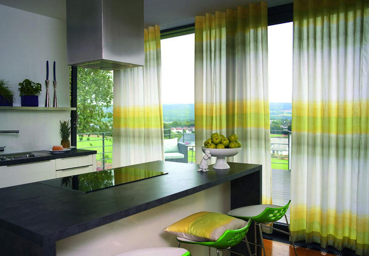 красивые шторы на кухню современные новинки