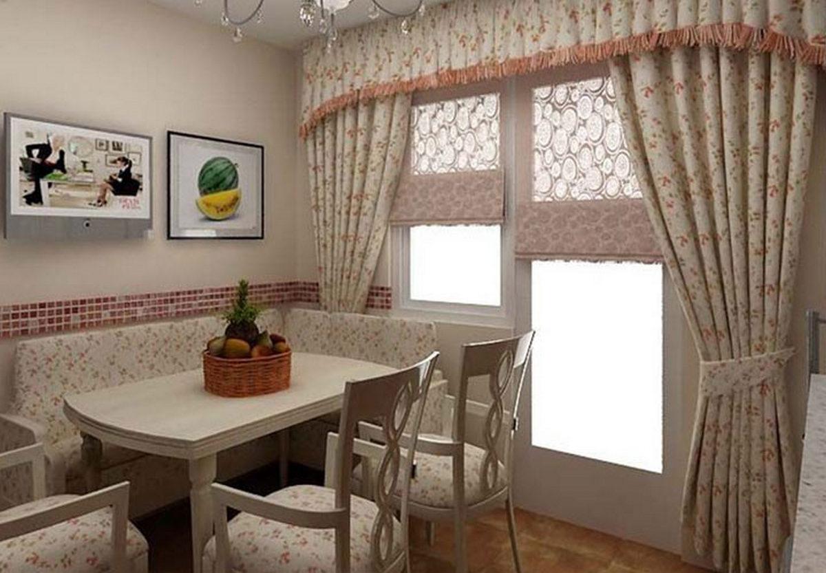 красивые шторы на кухню современные
