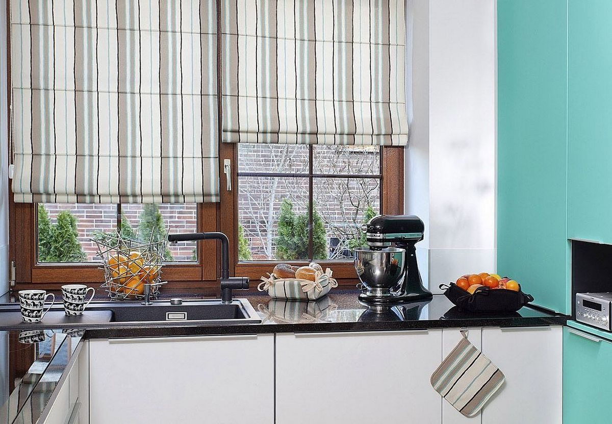 шторы на кухню 2019 пример