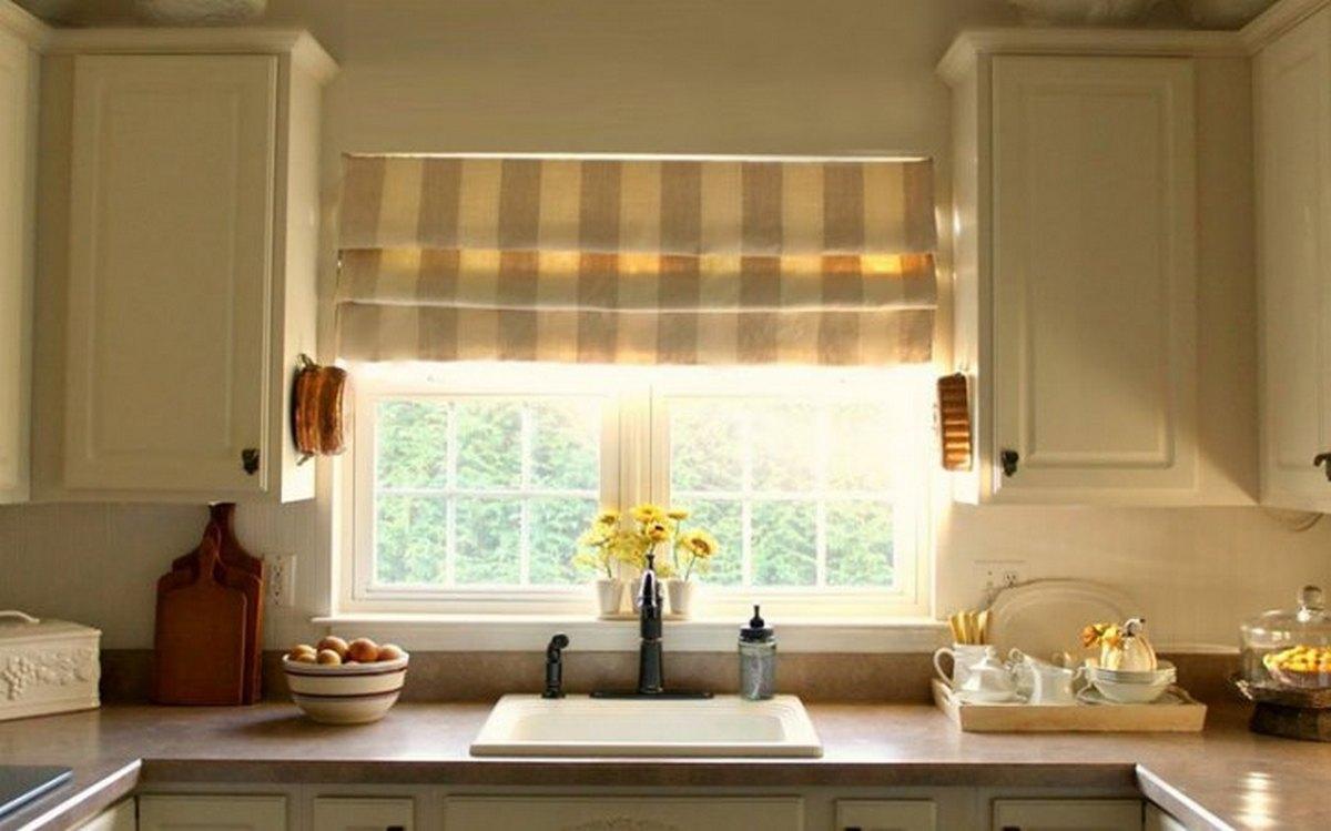 шторы на кухню 2019 римские