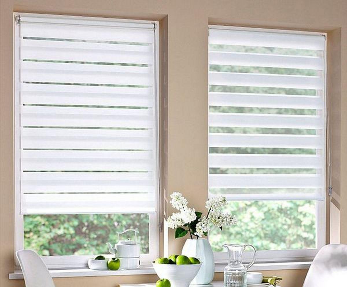 шторы на кухню фото короткие