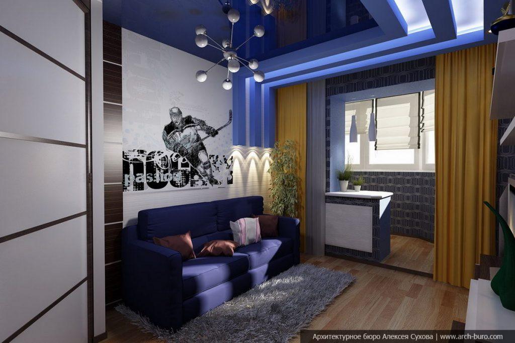 спальня подростка с балконом