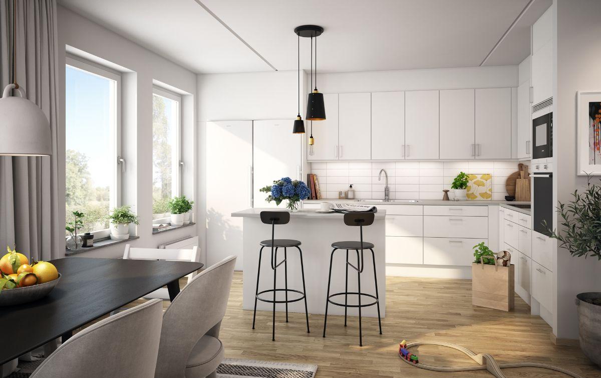 светлая кухня в неоклассическом стиле пример дизайна