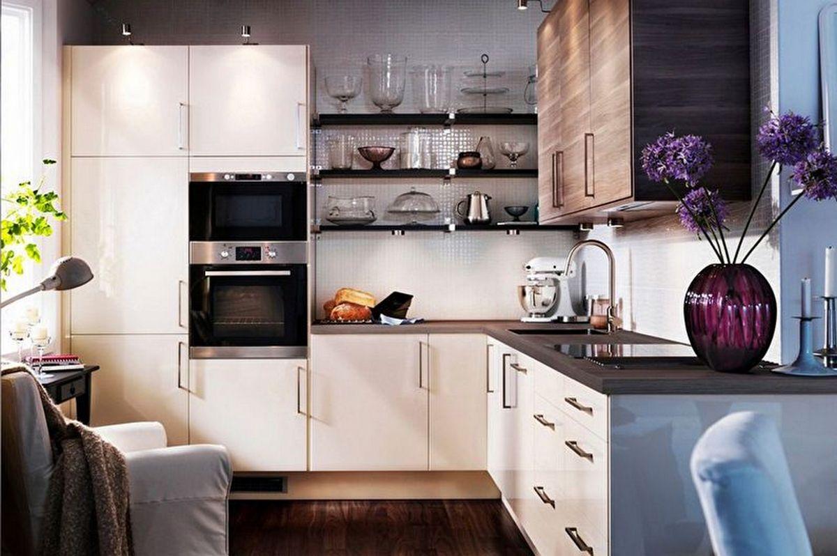 угловая кухня 6 кв м дизайн фото