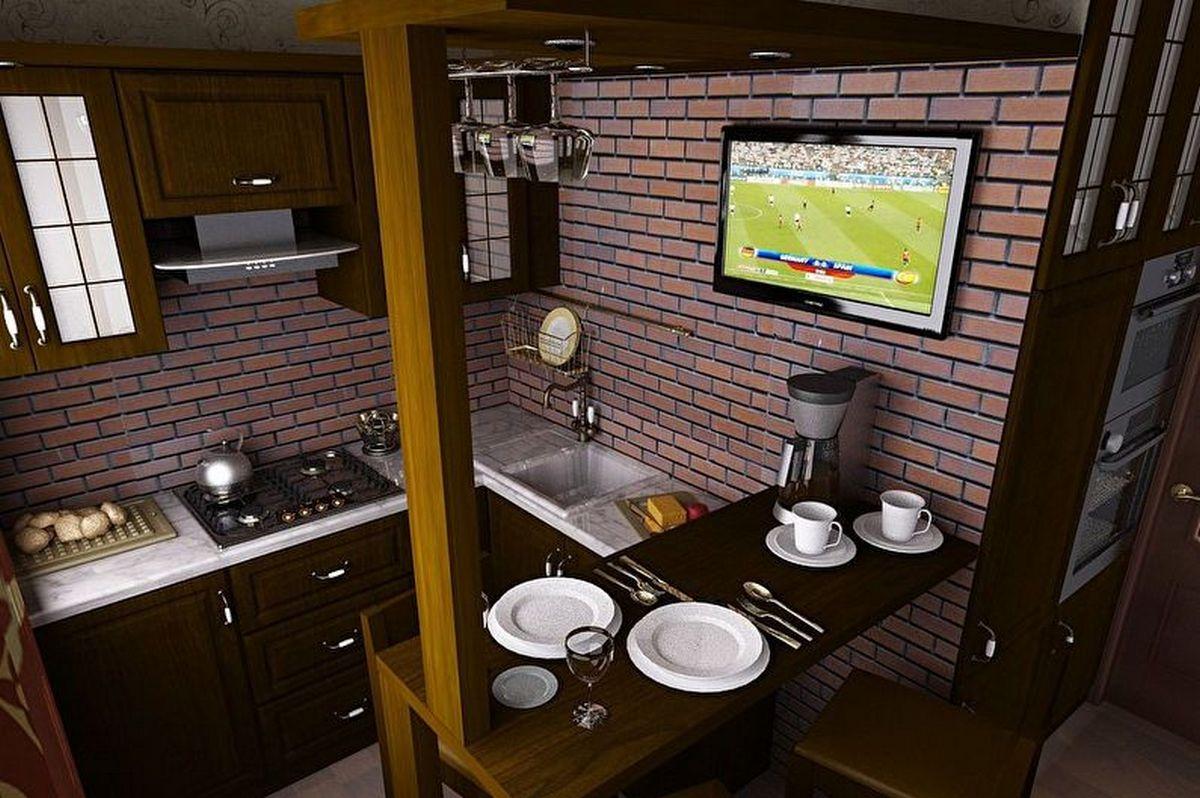 угловая кухня 6 кв м дизайн с барной стойкой