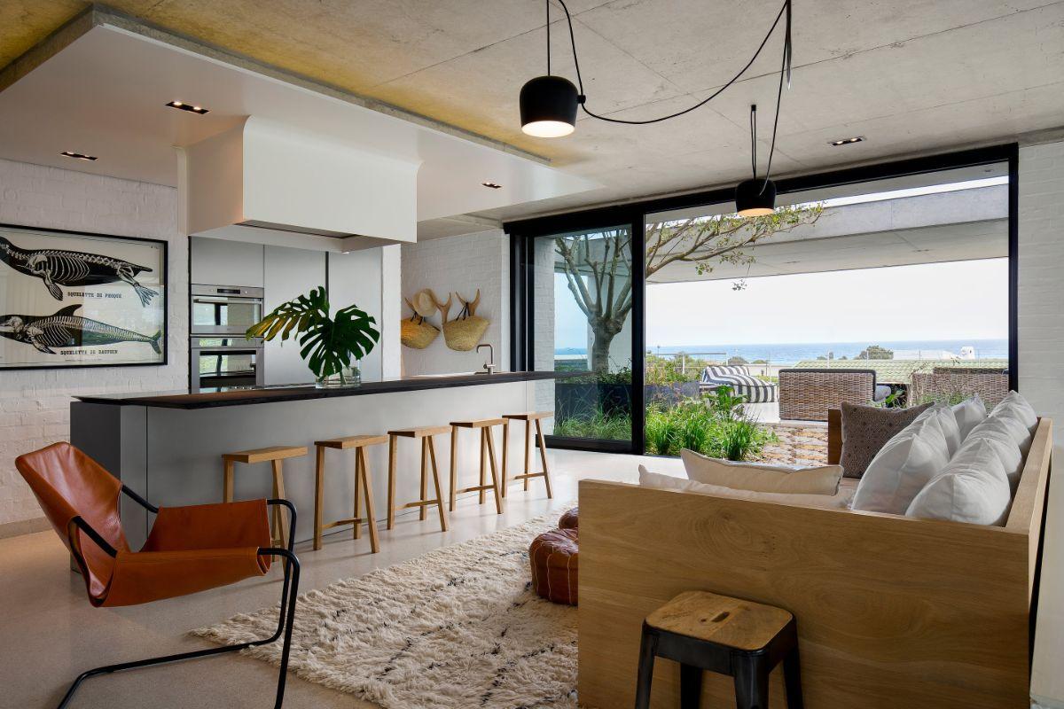кухня гостиная дизайн интерьера в стиле модерн