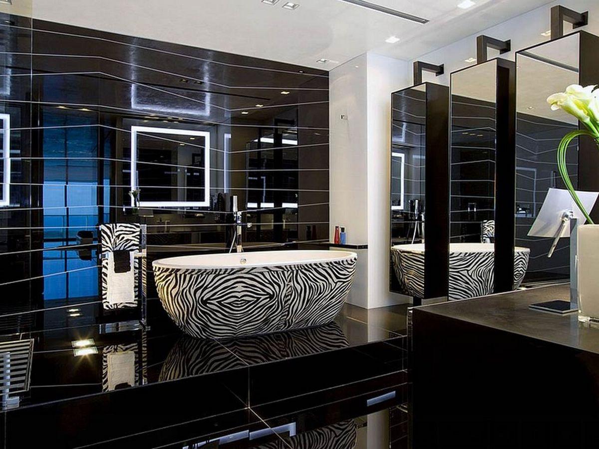 ванна в расцветке зебра