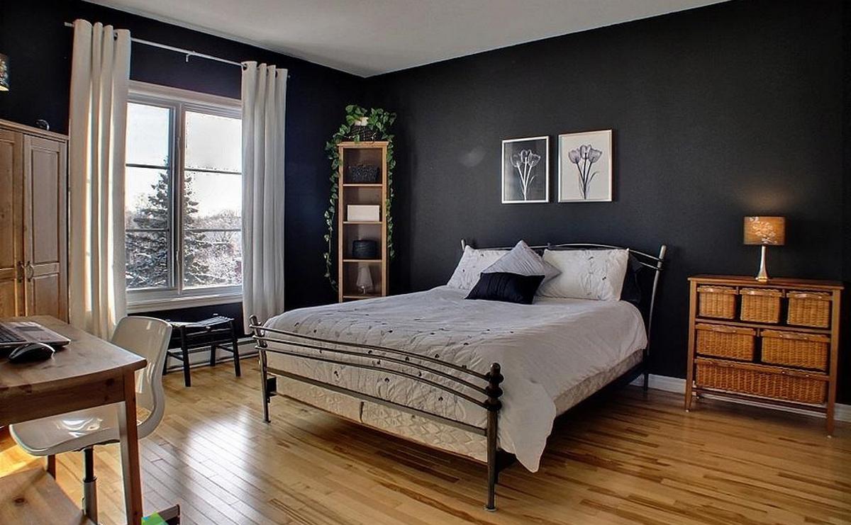 чёрная спальня