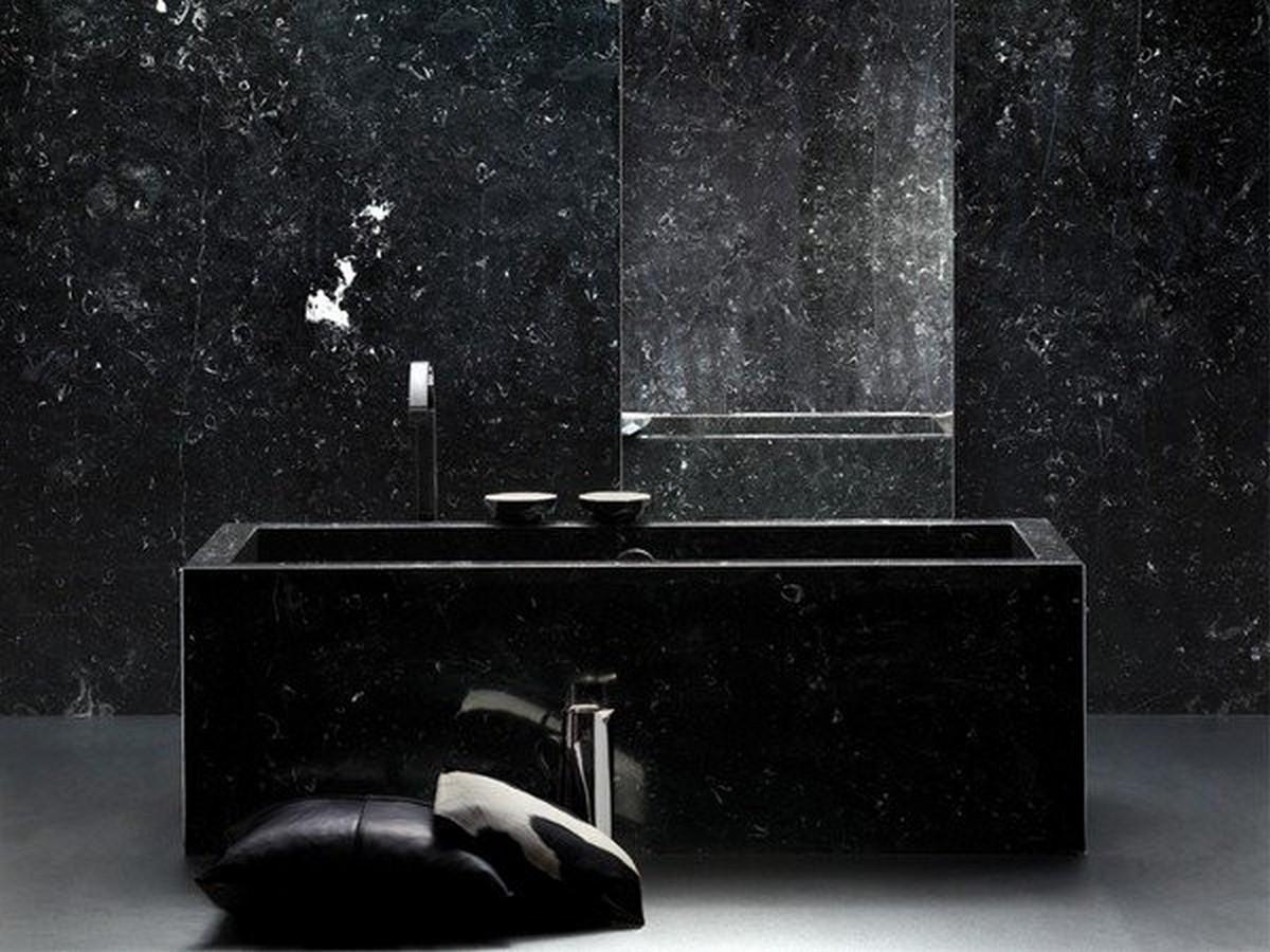 чёрная ванная фото