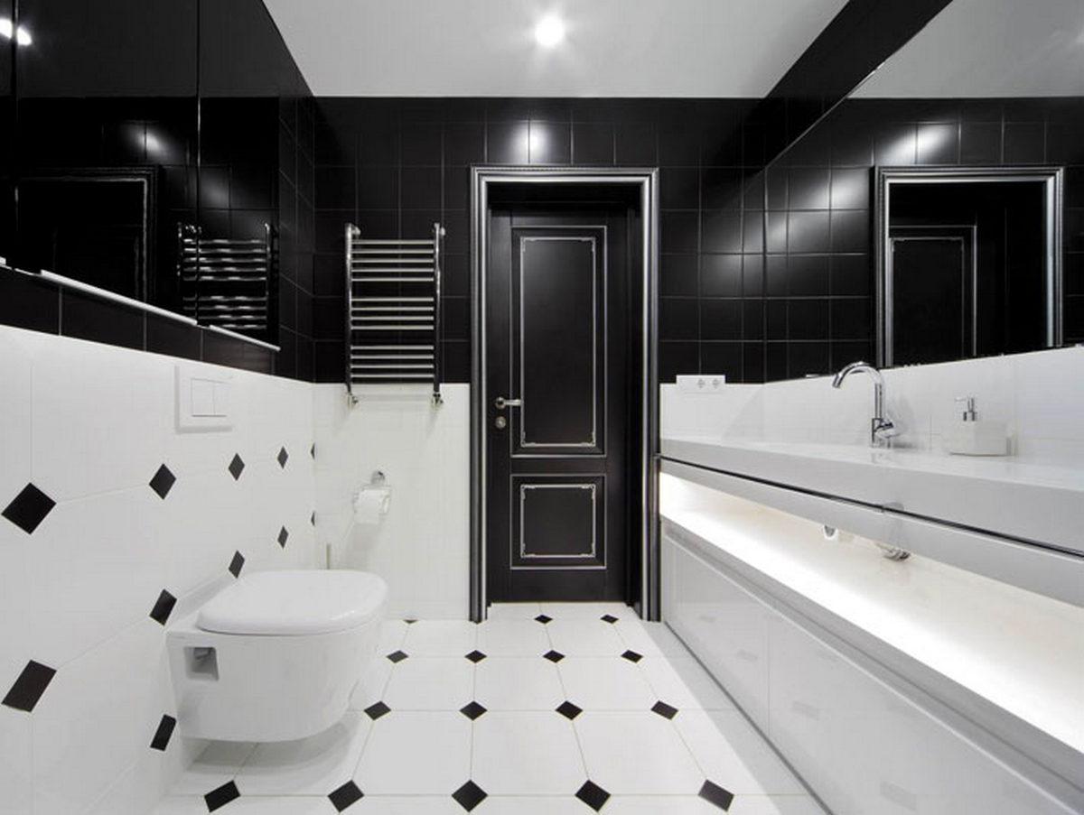 чёрный цвет ванной комнаты