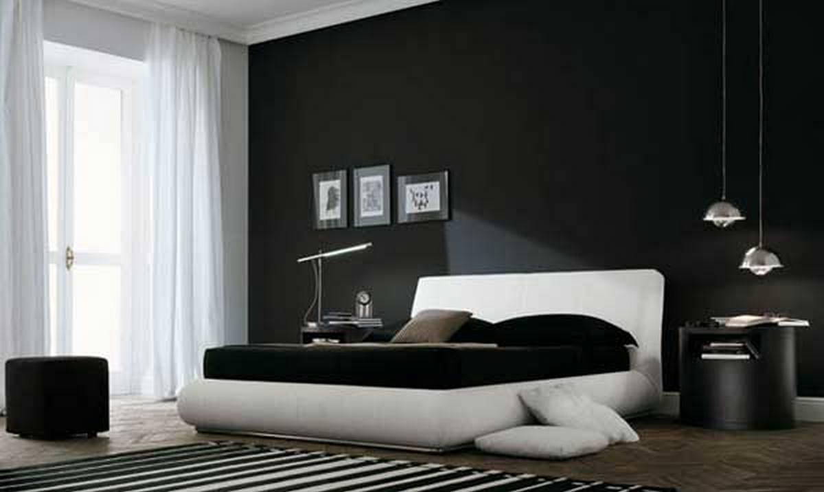 чёрный цвет в интерьере и белый