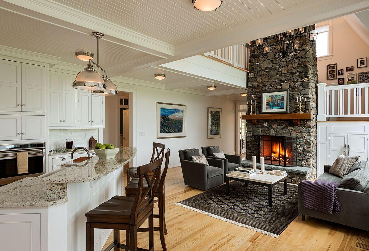 дизайн интерьера кухни совмещённой с гостиной фото